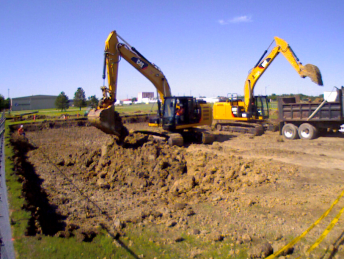 Kimberly Clark Building Foundation for J2 Expansion Finished Products Line
