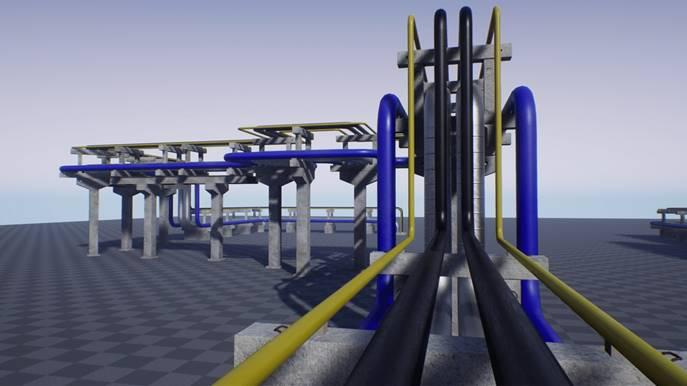 Data Center Concrete Pipe Trestle